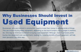 How Can Businesses Save Costs By Investing In Used Equipment