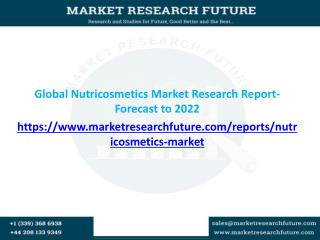 Global Nutricosmetics Market Expected to Grow CAGR of 7.5% from 2016-2022