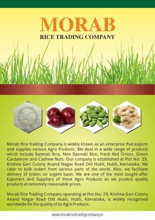 Morab Rice Trading Company Karnataka India