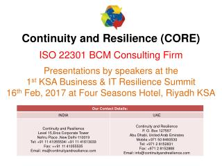 How to plan and manage a BCM and IT DR project