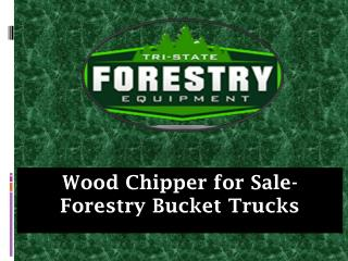 Wood Chipper for Sale-Forestry Bucket Trucks