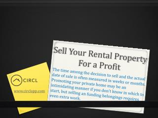 Sell Your Rental Property for a Profit