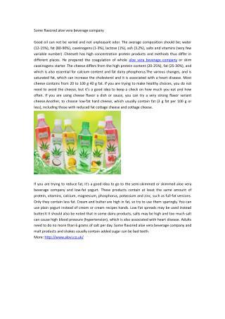 Some flavored aloe vera beverage company