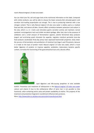 mare's Natural original 1.5l aloe vera water