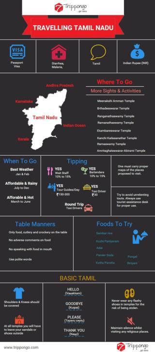 Tamil Nadu Travelling Infographic - Trippongo