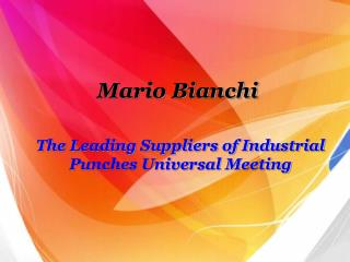 The Leading Suppliers of Industrial Punches Universal Meeting