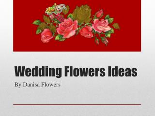 Discount wedding flowers & Ideas!!