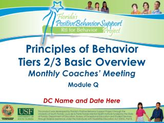 Principles of Behavior Tiers 2