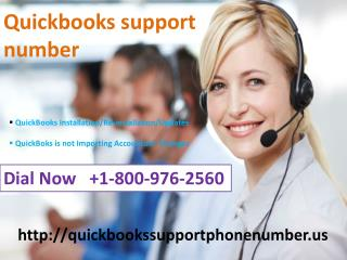 quickbooks support helpline number  1-800-976-2560
