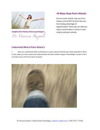 10 Ways Stop Panic Attacks