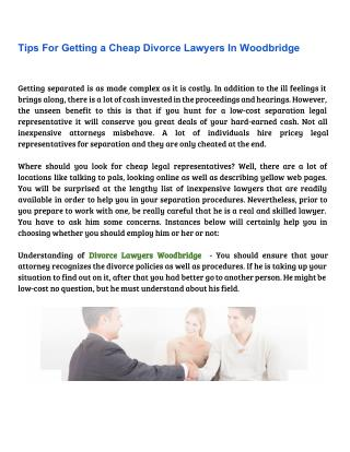 Tips For Getting a Cheap Divorce Lawyers In Woodbridge