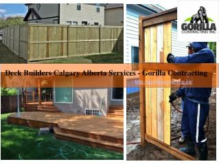 Deck Builders Calgary Alberta Services