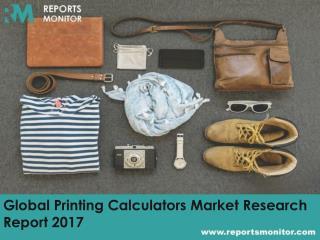 Global Printing Calculators Market Share and Market Analysis