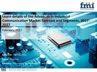 Industrial Communication Market, 2017-2027 by Segmentation Based on Product, Application and Region