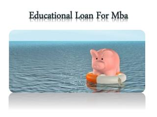 Best online education loans for mba