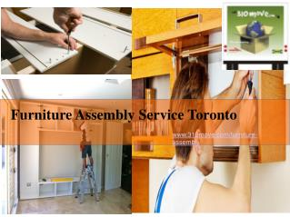 Furniture Assembly Service Toronto