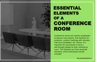 Three necessary elements of a conference room