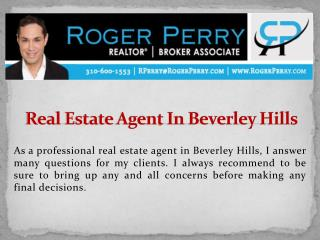 Real Estate Agent In Beverley Hills