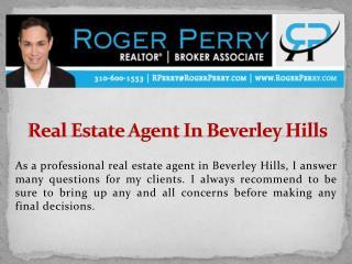 Real Estate Agent In Beverley Hills