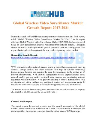 Global Wireless Video Surveillance Market Growth Report 2017-2021