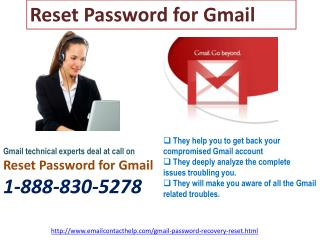 Is Reset Password for Gmail  really reliable? Yes or not @1-888-830-5278?