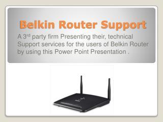 Belkin Router Support