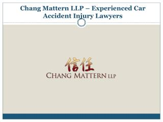 Experienced Car Accident Injury Lawyers