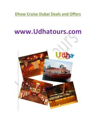 Dhow Cruise Dinner @ www.udhatours.com