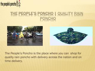 Cycling Raincoat - The Peoples Poncho