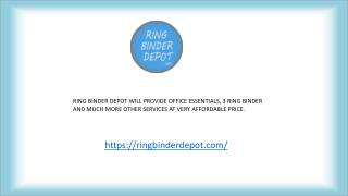 Professional Ring Binder Depot - 3 Ring Binder & Office Essentials