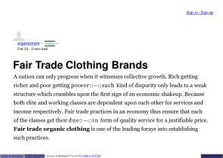 fair trade organic clothing