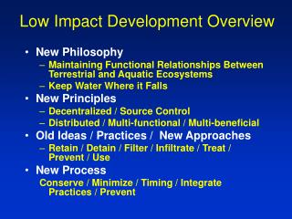 Low Impact Development Overview