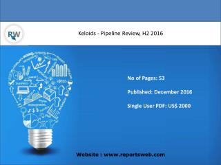 Keloids - Pipeline Review, H2 2016