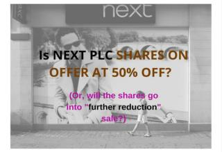 Is NEXT PLC SHARES ON OFFER AT 50% OFF?