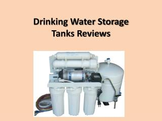 Drinking Water Storage Tanks Reviews