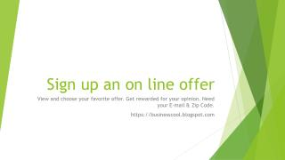 Sign up an online offer