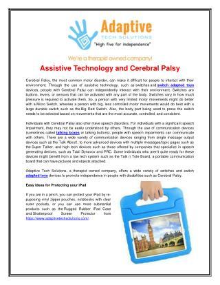 Adaptive Equipment For Children