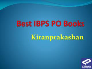 Available Best IBPS PO Books at Kiranprakashan