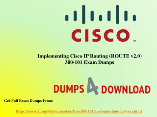 Download Free Cisco 300-101 Dumps Sample Questions
