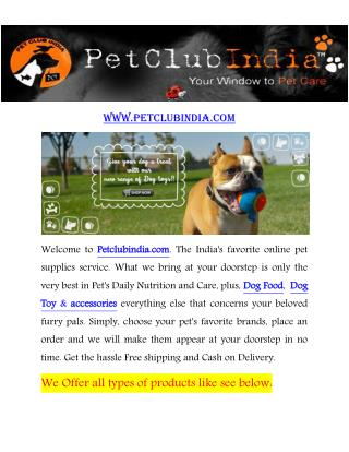 PetClubIndia Online Pet Store in New Delhi India