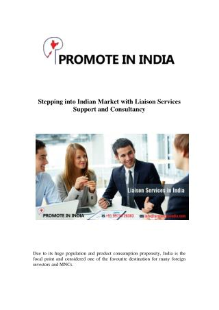Liaison Consultancy Services & Product Launch in India