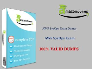 Pass AMAZON AWS-SYSOPS Exam - Test Questions :: Amazondumps.us