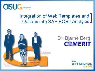 Integration of Web Templates and  Options into SAP BOBJ Analysis