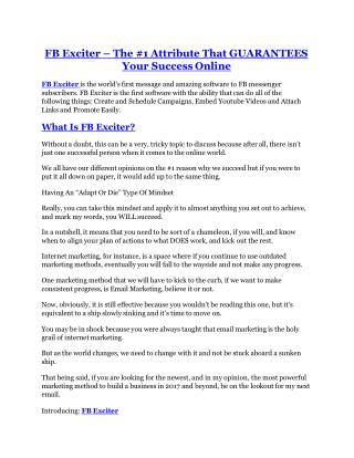 FB Exciter review in detail – FB Exciter Massive bonus