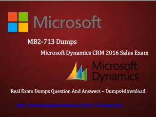 MB2-713 Latest Dumps - Dumps4download.com