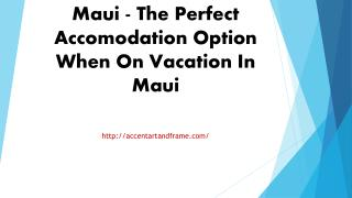 Condo Rentals Hawaii Maui - The Perfect Accomodation Option When On Va