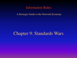 Chapter 9: Standards Wars