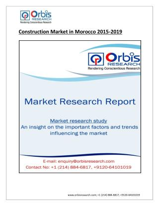 Construction Market in Morocco by 2019
