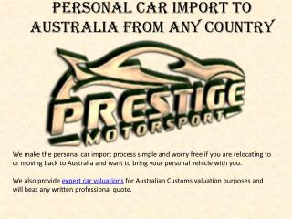 Import Car From Usa To Australia