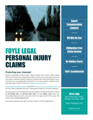 Typical Types of Personal Injury Claims